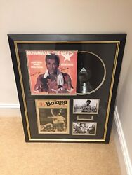 Muhammad Ali Signed Lp, Framed, With Garry King Certificate Of Authenticity