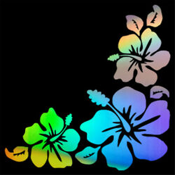 Hibiscus Flowers Car Window Bumper Wall Laptop Vinyl Decal Removable Sticker