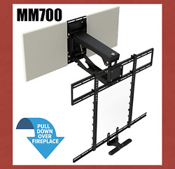 New Mantelmount Mm700 Tv Mount For 45-90 Tvs - Pull Down Over Fireplace Mantel