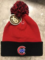 Chicago Cubs Red/black Fleece Lined Winter Hat - One Size Fits All