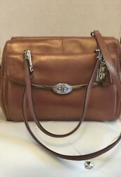 COACH MADELINE METALLiC SATCHEL ROSE GOLD BAGS $199.99