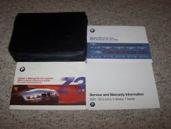 2001 Bmw Z3 Roadster Convertible Owner Ownerand039s Manual User Guide Set 2.5i 3.0i