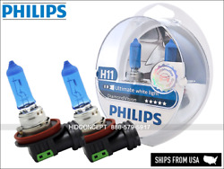 NEW! PHILIPS H11 Diamond Vision 12362DVS2 more light performance Halogen bulbs