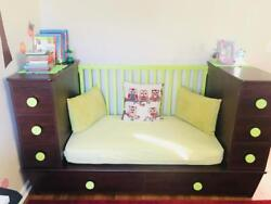 Kids Bedroom Set Toddler Bed Convertible Twin Full Size Baby Crib Wardrobe Couch