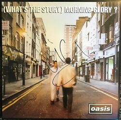 Oasis Signed Album Liam Gallagher Autographed Vinyl What's The Story Noel