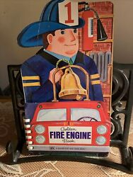 Golden The Fire Engine Book Vintage Childrenand039s Play And Learn Board/story Book