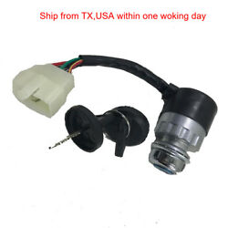 New 5 Wire 2 Keys Ignition Start Switch For 50cc-250cc Motorcycle Go Kart Atv Us