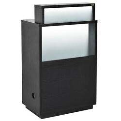 Reception Desk Reception Area Counter With Led Lighting - Orsachiotto In Black