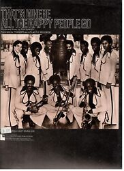 Trammps-thatand039s Where All The Happy People Go Sheet Music-piano/v/guitar-1976-new