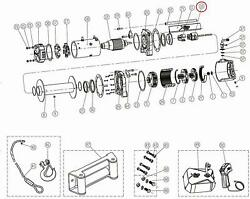 Smittybilt Winch Replacement Parts Brake Assembly 97495-10