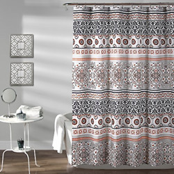 Lush Decor Nesco Stripe Shower Curtain 72