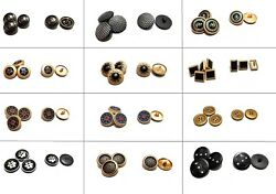 All New Round Metal Shank Buttons Sewing Button For Coat Jeans Jacket Suits Uk