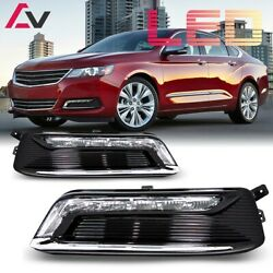 14-20 For Chevy Impala Clear Lens Pair Led Drl Fog Light +wiring+switch Kit