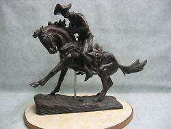 Fredric Remington Wax Sculpture Rendering Of The Cowboy Foundry Opportunity