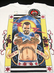 New Rare Cm Punk Wwe Second City Saint / Best In The World T-shirt - Large