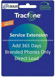 Tracfone Service Extension 1 Year / 365 Days For Branded Phones