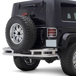 Smittybilt Stainless Steel 3 Inch Rear Double Tube Bumper Without Hitch Jb48-rs