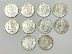 Lot Of 10 1904 O Morgan Silver Dollar 1 Nice Detail / Luster New Orleans