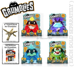 New Pomsies Grumblies Scorch Bolt Hydro Tremor Troll Toy Aa Batteries Or Stand