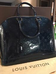NEW LV - Louis Vuitton Alma PMGM Vernis Handbag - Bleu