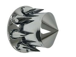 Rear Wheel Hub Cover Chrome Semi Truck 33mm Nut Covers Spiked
