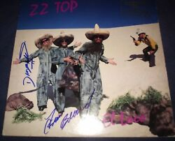 Zz Top Signed Record Titled El Loco 3 Members Rare Promo Proof Vintage