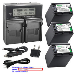 Kastar Battery Lcd Dual Fast Charger For Fv100 Sony Hdr-pj230 Hdr-pj260 Hdr-pj26