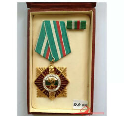 Bulgaria Order Of Military Valour And Merit 1st.class. Whit Ribbon Bar And Case