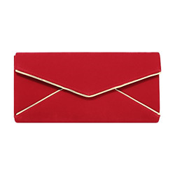 Stjubileens Ladies' Velvet Evening Bag Formal Party Clutch For Women With Chain
