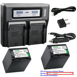 Kastar Battery Dual Lcd Fast Charger For Sony Hdr-xr155 Hdr-xr160 Hdr-xr260