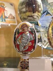 Exclusive Russian Imperial Lomonosov Porcelain Easter Egg Guardian Angel Rare