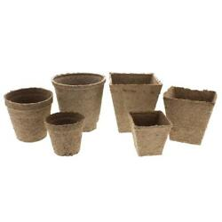 Lot Of 25 / 50 / 100 / 250 / 500 - Jiffy Peat Pots 100 All Natural Seed Starter