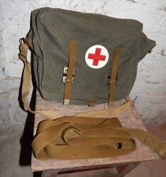 Vintage Soviet Russian Army Rare Medic Bag Case USSR Red Cross First Aid Kit NEW