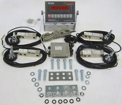 Stainless Steel Load Cell Scale Kit 60000 Lbs Floor Hopper Tank Feeder Silo New