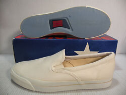 Converse Jack Purcell Slip-on Vintage Usa Men Shoes White Size 13 A4423 New