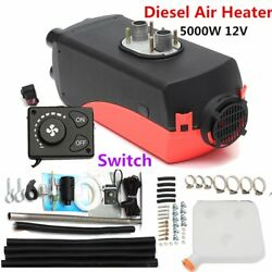 5KW 12V Car Auto Parking Diesel Air Heater Four-hole with Silencer knob switch