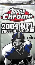 2004 Topps Chrome Football Sealed Retail Pack 24 Loose Pack Lot