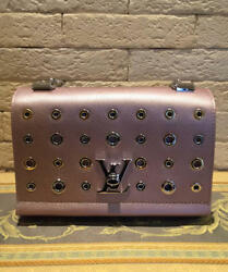 LOUIS VUITTON EMPREINTE Chain Shoulder Bag Metal Dot Pink Rare Design