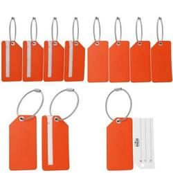 Small Luggage Tags - Fully Bendable Rubber Tags - Privacy Cover  Metal Loop ...