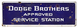 Dodge Brothers Reproduction Gas Station Large Metal Sign 8x24