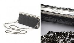IMPOSSIBLE TO FIND COLLECTIBLE PYTHON SWAROVSKI CHANEL CLUTCH BAG