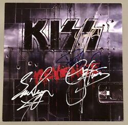 KISS Signed Revenge Poster Flat By All 4 Rare PROOF Gene Simmons Paul Not Record