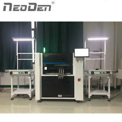 NeoDen7 SMT production line: screen printer chip mounter smt conveyor and oven