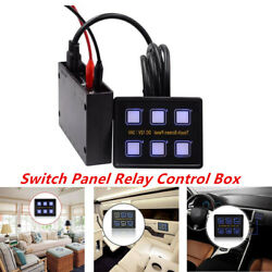 Car Truck Marine 6 Gang LED Touch Screen Panel Slim Switch Controls DC 12V24V