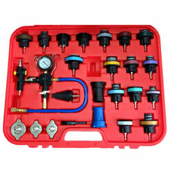 For Acura Mercedes Benz Jeep 27pcs Radiator Pressure Tester w  Vacuum Purge Kit