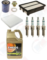 Tune Up Kit + Denso Plugs + 5qts Eneos 0w-20 Oil Fits Honda Civic Si And Acura Ilx