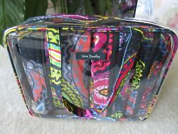 Vera Bradley Twilight Paisley 4PC Cosmetic Organizer In Clear Tote Travel Bag