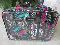 Vera Bradley Canyon Road 4PC Cosmetic Organizer In Clear Tote Travel Bag