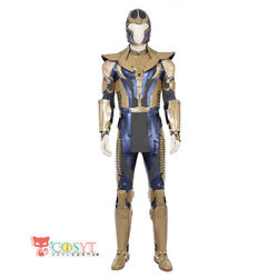 Avengers Infinity War Thanos Cosplay Costume Deluxe Jumpsuit Outfit With Helmet