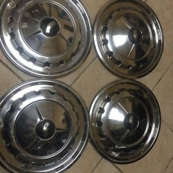 1957 Chevrolet Wheelcovers Hubcaps. Ser Of 4. 14 Oem